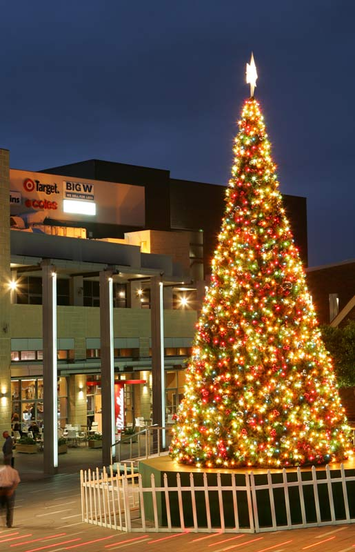 Elfhelp's Giant artificial Christmas Tree goes up in Blacktown each year